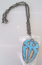WWE ROMAN REIGNS Blue Metal Pendant Necklace New Official WWE NEW