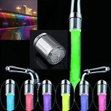 LED Water Stream Faucet Light Automatic 7 Colors Change Shower Spout Sink Tap AU