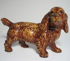 "Antique CAST IRON LARGE SIZE 11"" COCKER SPANIEL DOG HUBLEY DOORSTOP"