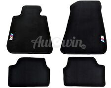 BMW 1 Series E87 Winter Floor Mats With Rubber Background With M /// Logo LHD