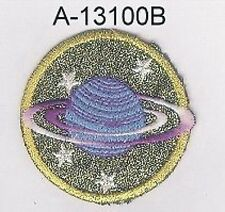 """2"""" Celestial Planet Saturn Star Embroidery Applique Patch"""