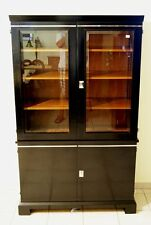 ART DECO BÜCHER KASTEN GLAS SCHRANK WIEN GLASS BOOKCASE LIBRARY CUPBOARD UM 1925