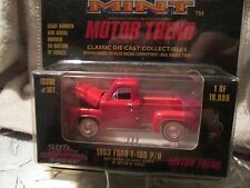 1953 FORD F 100 PICKUP TRUCK   Racing Champions mint edition #  1:64 BRIGHT RED