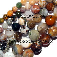 OCEAN JASPER COLOR MIX BEADS STRANDS 4MM ROUNDS
