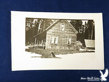 RPPC Small Farmstead In Pines Clapboard House Barn Chicken Coop Dog Snow