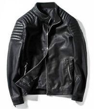 New Men's Slim fit Biker Motorcycle jacket Fashion PU Leather Jacket