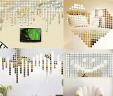 20Pcs Acrylic Art 3D Wall Mirror Stickers DIY Home Decals Decor Removable