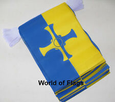 COUNTY DURHAM FLAG BUNTING 9m 30 Fabric Party Flags English England Counties