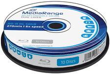 10 Mediarange Blu-ray BD-R Dual Layer 50GB DL 6x Spindel 50 GB