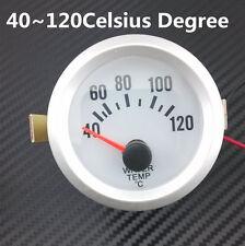 "Universal 2"" 52mm Blue LED Round Auto Car Water Temperature Meter Gauge 40-120℃"