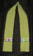 DROOL SCARF for Special Needs Children Adults GREEN Hippo Lion Elephant Handmade