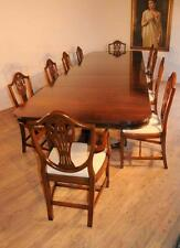 Mahogany Regency Dining Set Table & Prince Wales Chairs
