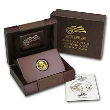 2008-W 1/10 oz Proof Gold Buffalo Coin - with Box and Certificate - SKU #57266