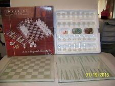 Imperial Crystal 3 in 1 Game Set Chess/Checkers/Backgammon Adult