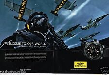Publicité advertising 2014 (2 pages) La Montre Avenger Blackbird Breitling