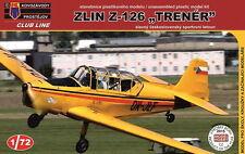 """Kovozavody prostejov 1/72 ZLIN z-126 TRENER """"sumperk AEROCLUB"""" # cl7201"""