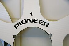 "2 X PIONEER WHITE/BLACK SIX SPOKE METAL HUB CARBON  REEL TO REEL 10.5"" X 1/4"""