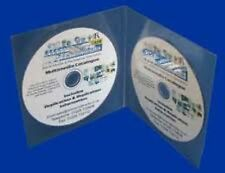 25 Professional Double CD DVD Plastic Wallets / Sleeves with Smooth Edge NEW HQ