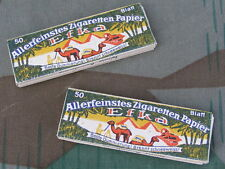 "Original German WWII Wehrmacht Issue ""Efka"" Cigarette Rolling Paper Packets (2)1"