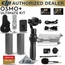 DJI Osmo+ Plus Handheld 4K Camera 3-Axis Gimbal with 2 Batteries, Mic & 32GB KIT