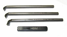 RDGTOOLS HSS THREADING TOOL SET 3PC 6MM / 55 AND 60 DEGREE BORING AND HOLDER