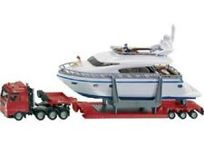 Siku Diecast Model 1849 - Heavy Haulage Transporter With Boat