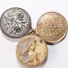 Old Triple Slide Art Medal, Saint Teresia de Lisieux