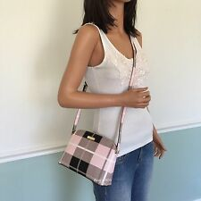NEW! KATE SPADE Black Pink Multicolor PVC Small Shoulder Crossbody Bag Purse