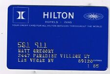 Hilton Hotel Inns Credit Card Matt Gregory Paradise Village Way Las Vegas Nevada