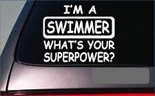 "Swimmer Superpower Sticker *G451* 8"" Vinyl Decal swimming pool diving snorkel"
