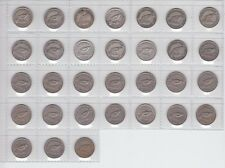 6p Sixpence Set Complete New Zealand NZ