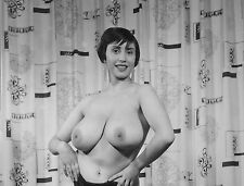 1950s Nude Pinup Posing with her huge Double Ds  8 x 10 Photograph