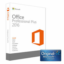 Microsoft Office 2016 Professional Plus 1 PC Deutsch Vollversion Lizenz KEIN Abo
