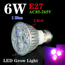 New 6W E27 LED Grow Lamps for flowering plant and hydroponics system AC85-265V