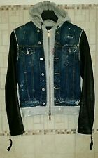 Authentic Jacket Dsquared Hell's Angel tg.48 Very Rare!