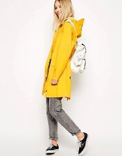 Rains Ladies Jacket/Rainmac with Hood in Bright Yellow Size L/XL UK 14/16