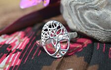 Stamped .925 Sterling Silver Complex Twisted Branches Tree Design Ring Size 7