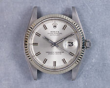 "Vintage Rolex 1967 Stainless Steel Datejust 1601 w/ ""Wide Boy"" Dial and Hands!"