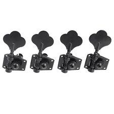 Set of 4R Black Electric Bass Tuners Machine Heads Tuning Pegs Keys