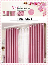Kids Room Solution Blockout Eyelet Curtains Pink Girl Room 300cm x 230cm (Drop)