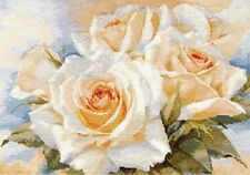 """Counted Cross Stitch Kit ALISA - """"White Roses"""""""
