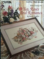 Tè, Rose & Romance Cross Stitch Pattern da Paula Vaughan