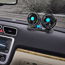 360° Rotating 2 Speed Strong Cool Wind Mini Fan Car Auto Vehicle Cooler Air Fan