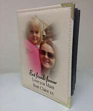 Personalised faux leather photo album, memory book, Mum best friends present