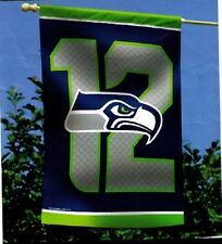 Seattle Seahawks 12th MAN Authentic 27x37 Polyester Indoor/Outdoor Banner Flag