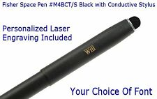 Fisher #M4 Series Personalized Black Space Pen with Conductive Stylus - #M4BCT/S