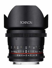 Rokinon Cine 10mm T3.1 ED AS NCS CS Cine Wide Angle Lens for Canon EF-S