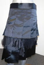 COMME des GARCONS black pleated layered skirt womens sz small