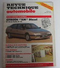 Revue technique automobile RTA 526 Citroën XM diesel D 12 & turbo D 12