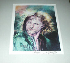 SUE DAWE Aragorn of LORD OF THE RINGS SIGNED AUTOGRAPHED 8x10 ARTWORK ART